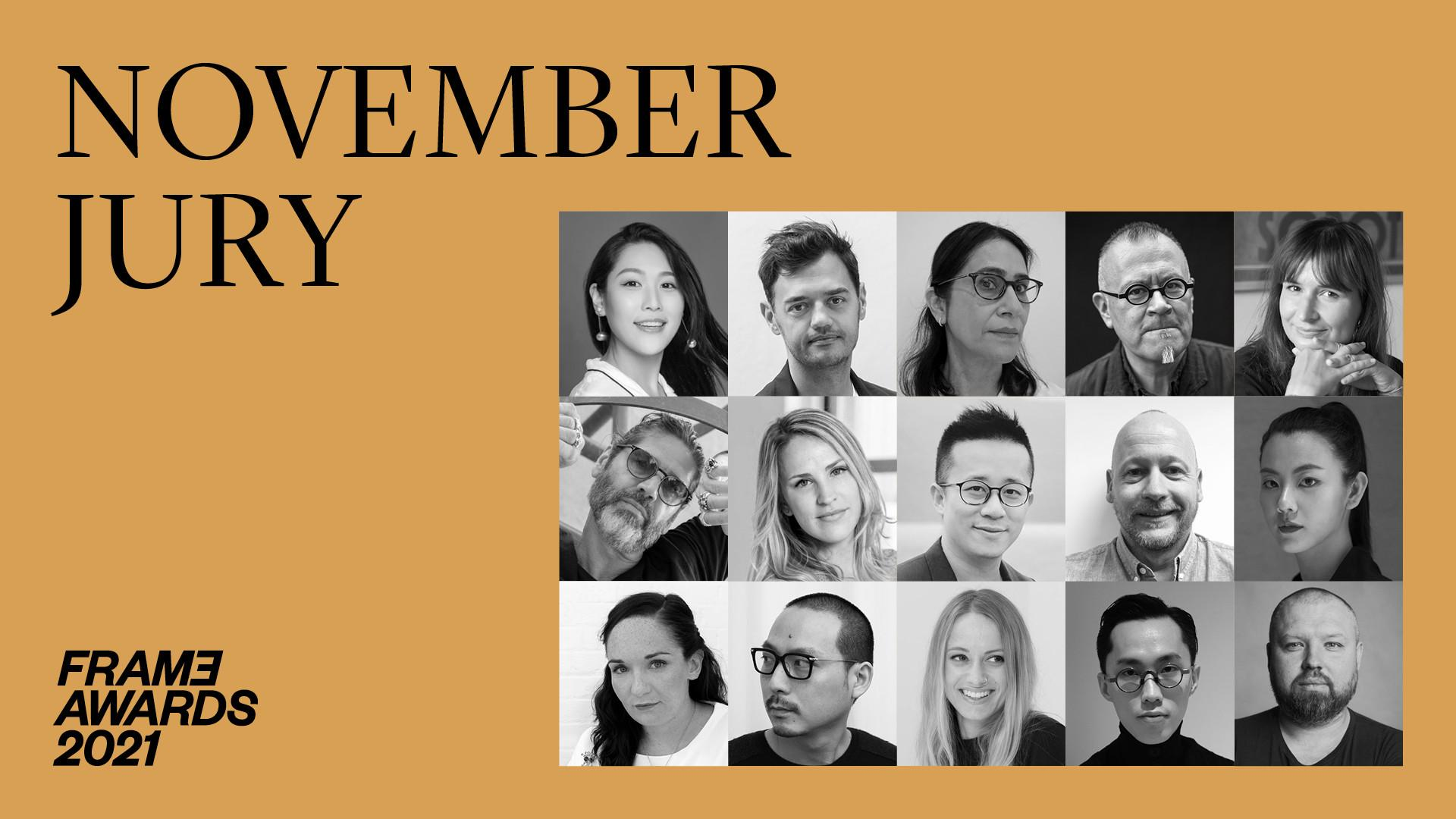 The diverse Frame Awards November jury includes experts in design, strategy and education